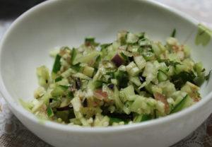 胡瓜・茄子・冥加の料理(だし)