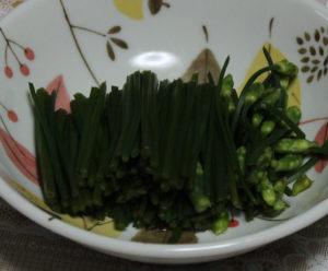 ニラの穂 料理:お浸し