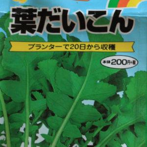 葉大根の種袋